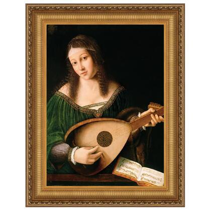 DA4783 30X40 Lady Playing A Lute 1530