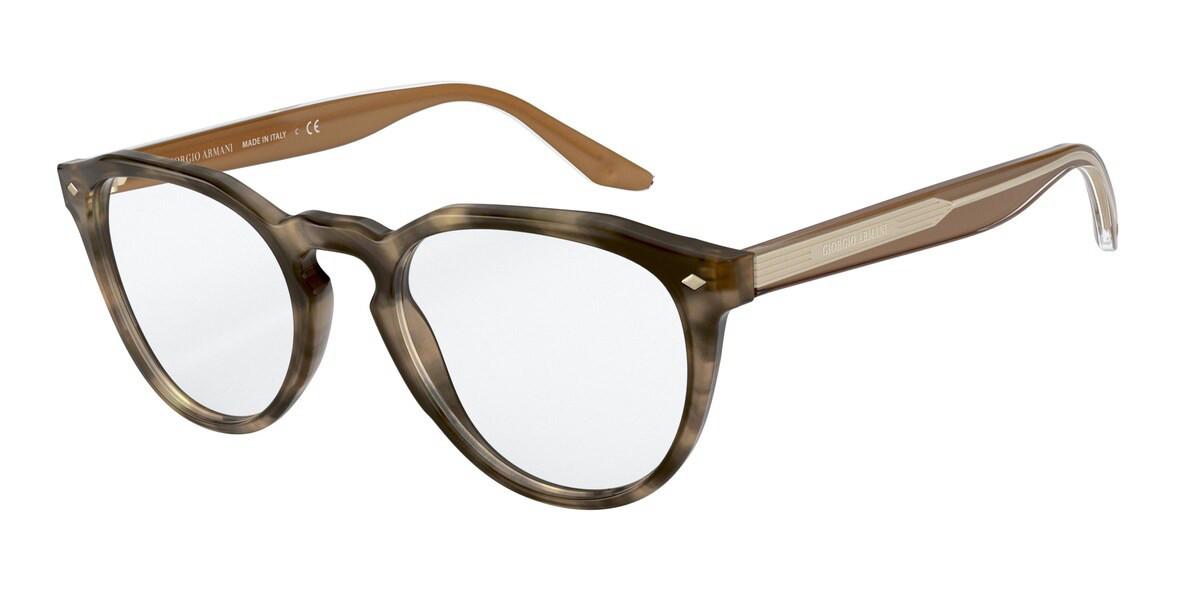 Giorgio Armani AR7186F Asian Fit 5775 Men's Glasses Brown Size 51 - Free Lenses - HSA/FSA Insurance - Blue Light Block Available