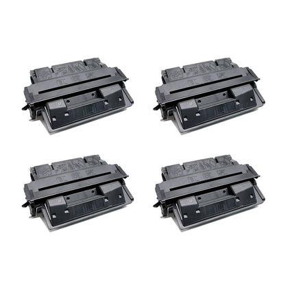 Compatible HP 27X C4127X Black Toner Cartridge High Yield - Economical Box - 4/Pack