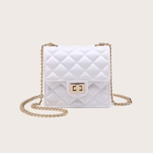 Mini Quilted Flap Chain Crossbody Bag