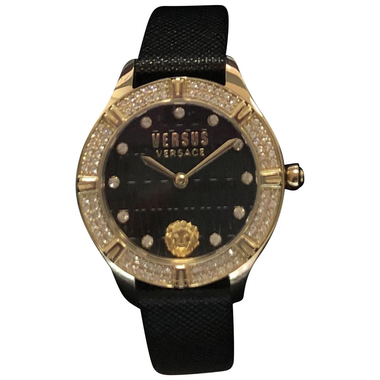 Versace - Montre   pour femme en acier - noir