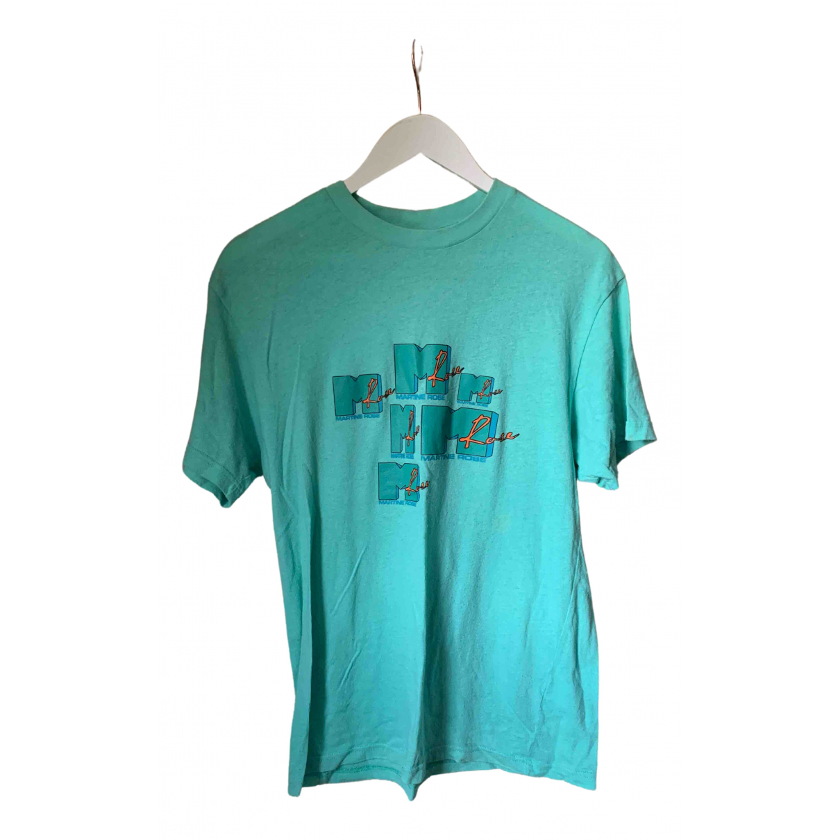 Martine Rose - Top   pour femme en coton - turquoise