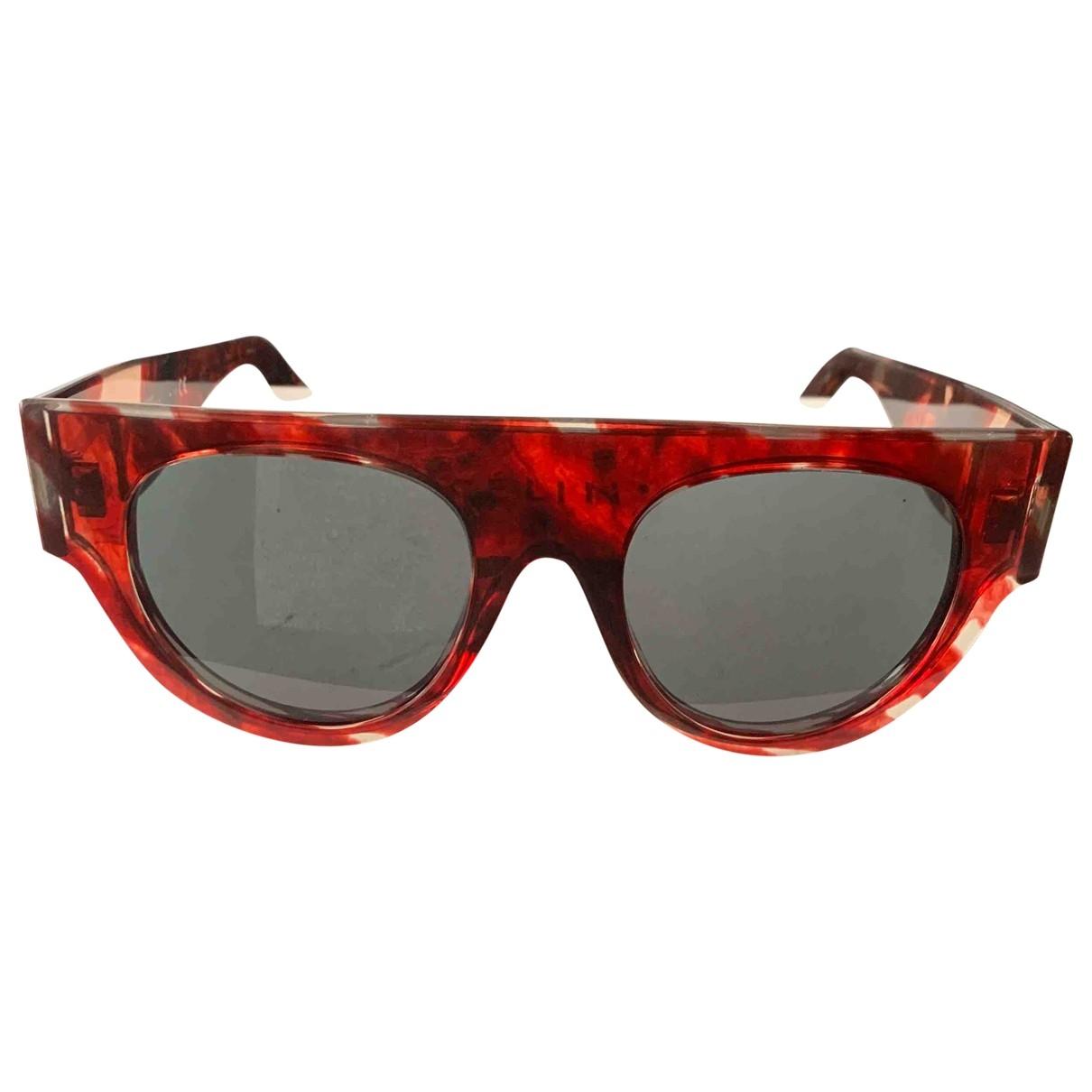 Celine Shadow Burgundy Sunglasses for Women \N