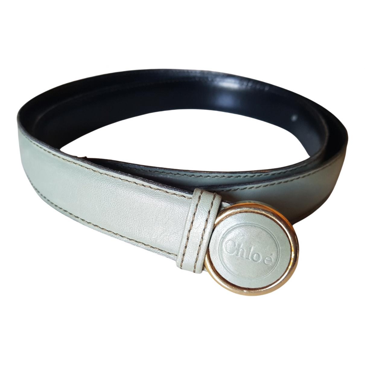 Chloé \N Grey Leather belt for Women M International