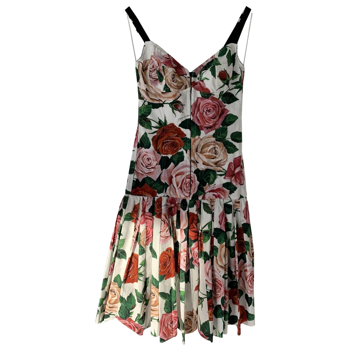 Dolce & Gabbana - Robe   pour femme en coton - elasthane