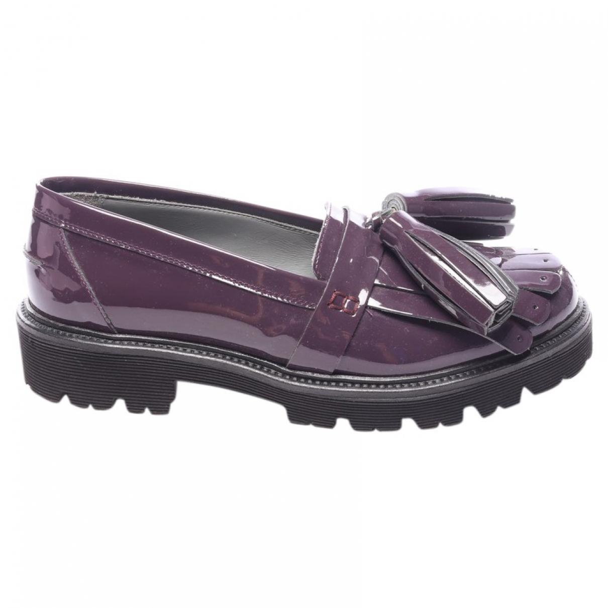 Msgm \N Sneakers in  Lila Leder