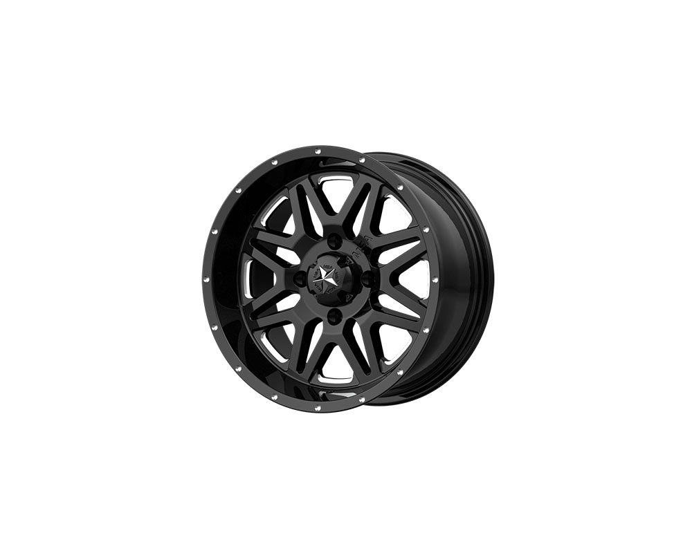 MSA Offroad Wheels M26-04710M M26 Vibe Wheel 14x7 4x4x110 +0mm Milled Gloss Black