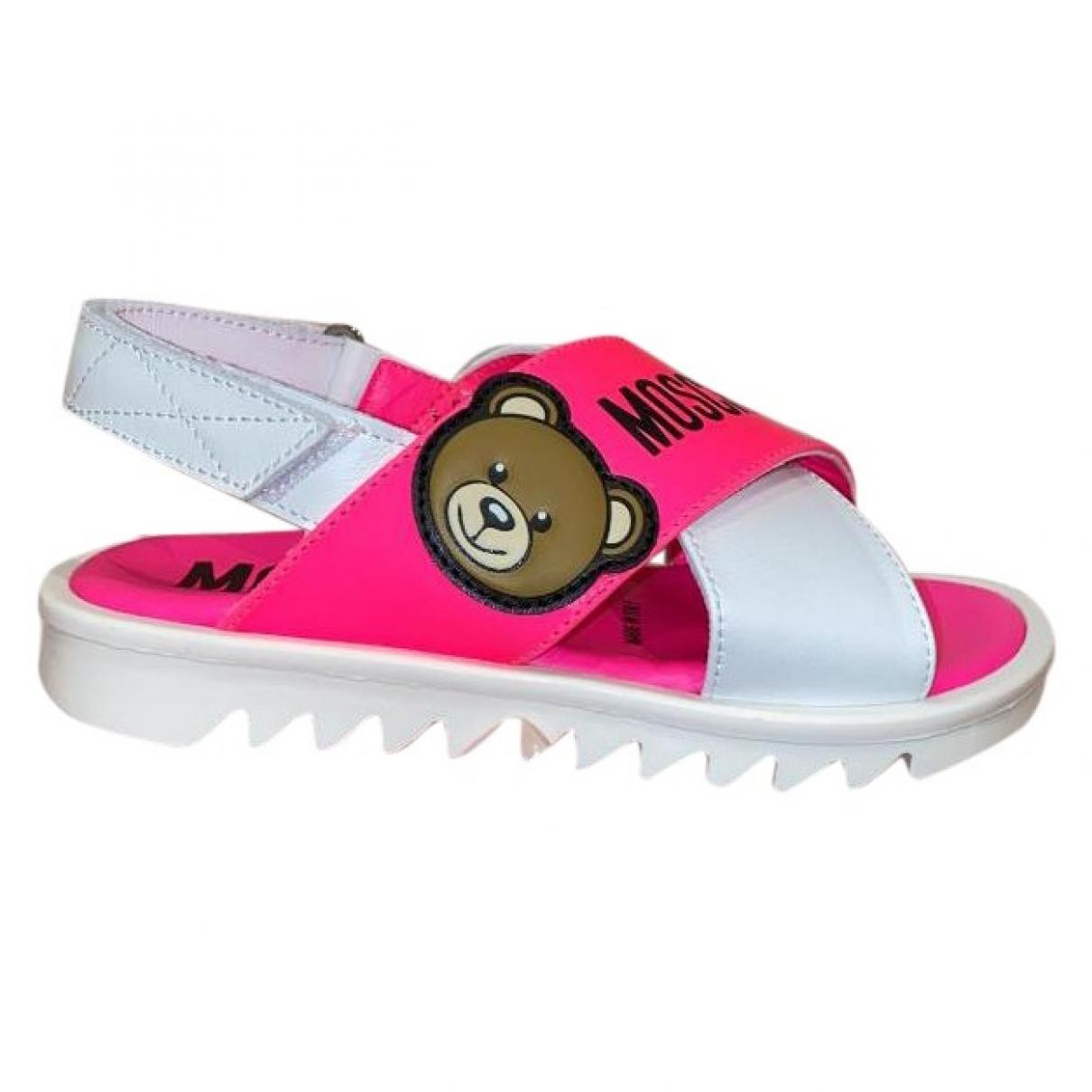 Moschino - Sandales   pour enfant en cuir - rose