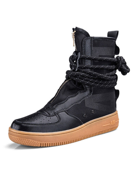 Milanoo Mens Athletic Boots Modern Round Toe For Hip-Hop And Street Dance