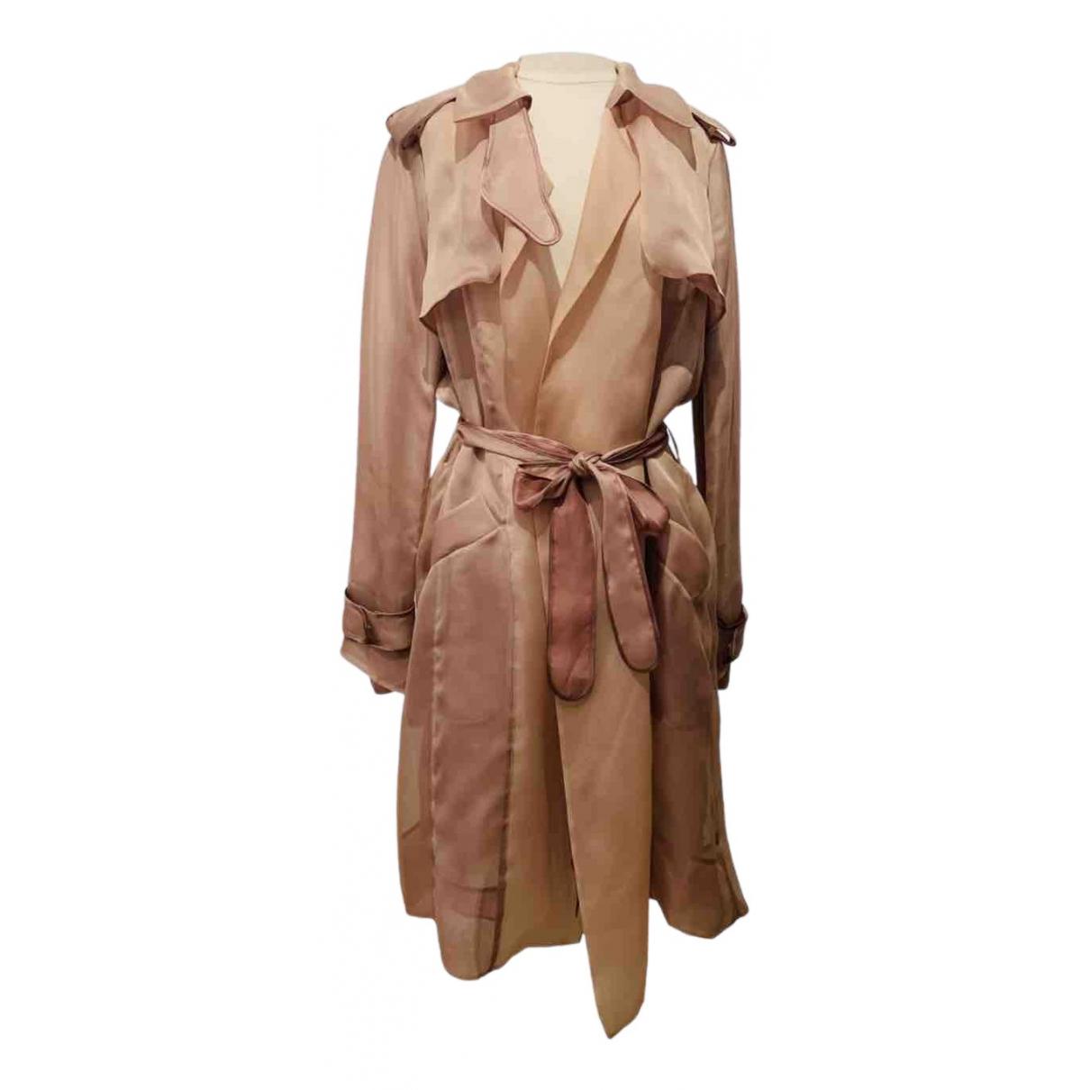 Herve Leger \N Pink Silk coat for Women 40 IT