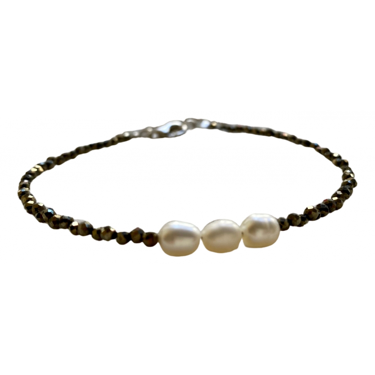 Non Signé / Unsigned \N Green Pearls bracelet for Women \N