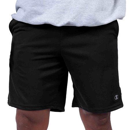 Champion Mens Elastic Waist Pull-On Short-Big and Tall, 3x-large , Black