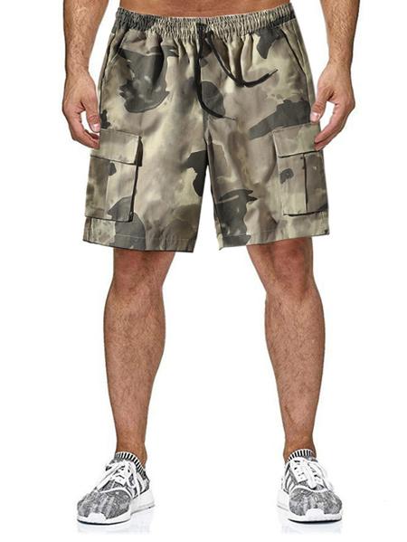 Yoins Men Summer Loose Casual Camouflage Multi-pocket Tooling Shorts
