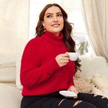 Strick Pullover mit Stehkragen