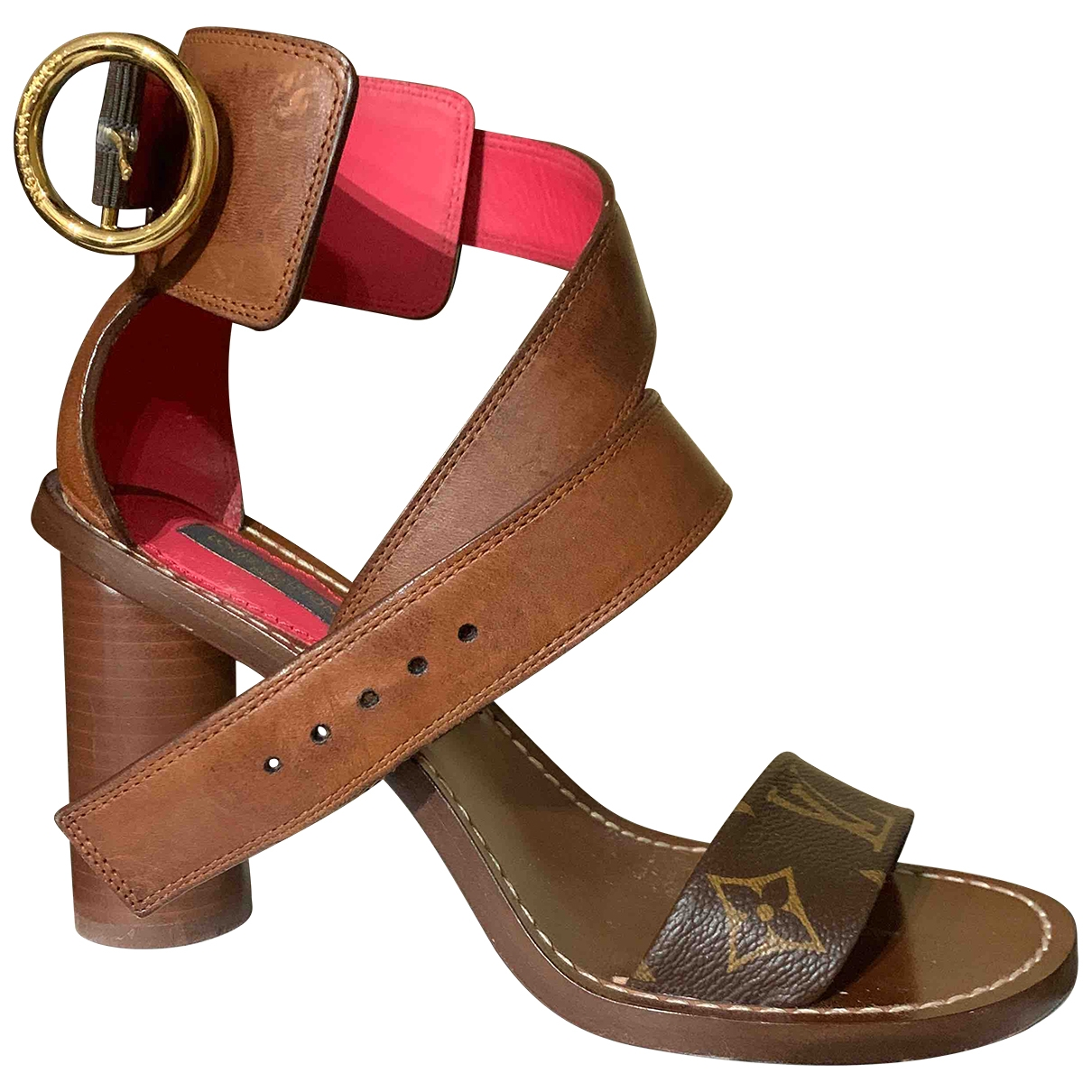 Louis Vuitton \N Brown Leather Sandals for Women 36 EU
