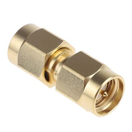 Radiall Straight 50Ω RF Adapter SMA Plug to SMA Plug 0 → 18GHz
