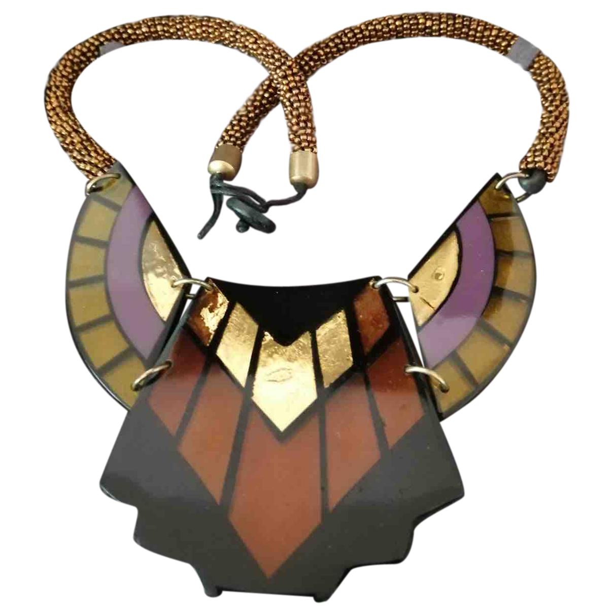 - Collier Motifs Ethniques pour femme - multicolore