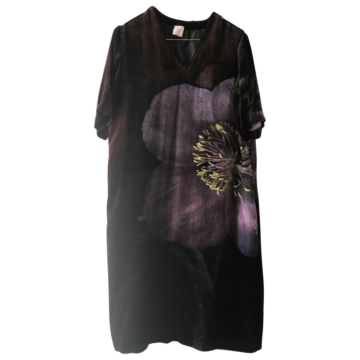 Colomba Leddi \N Burgundy Velvet dress for Women 42 IT