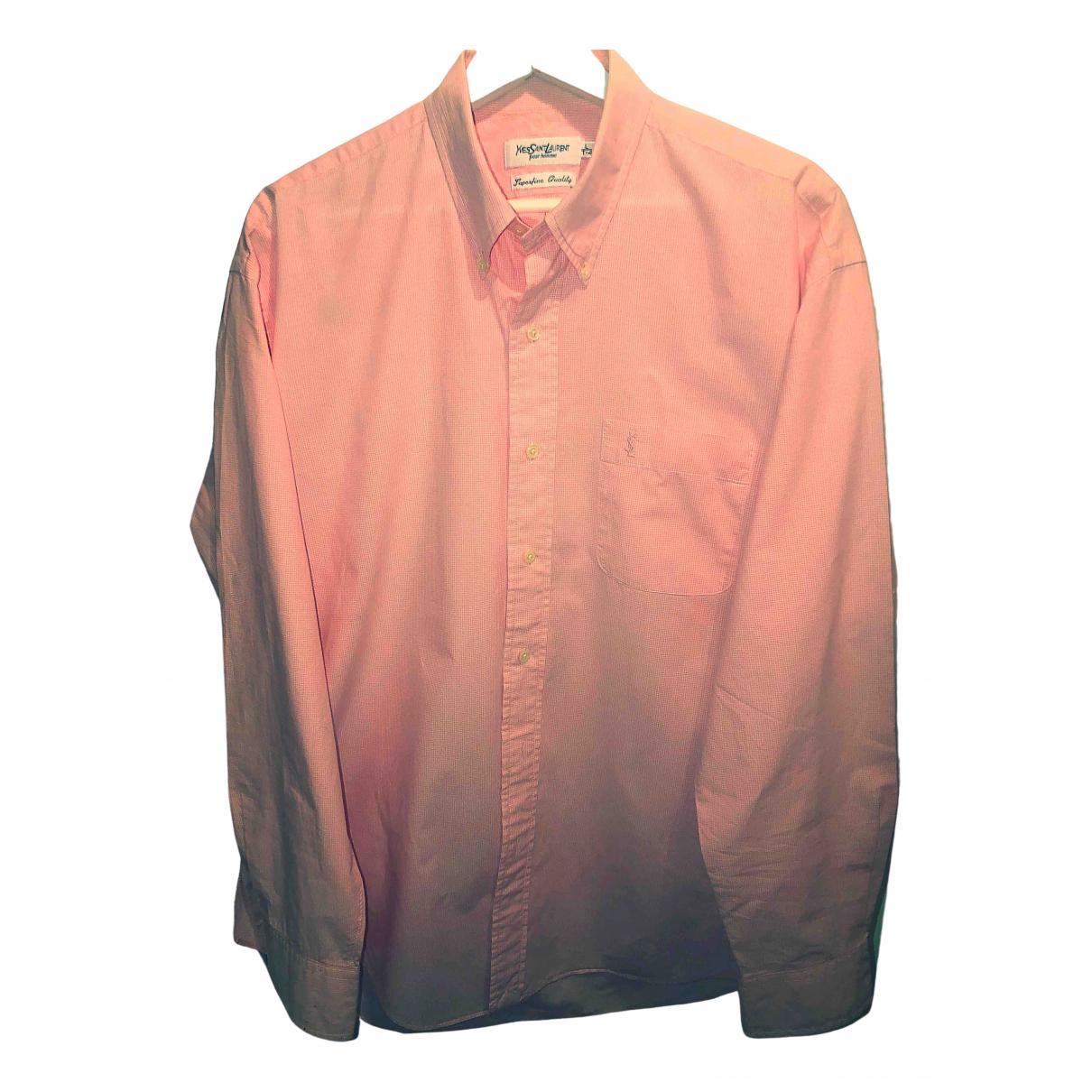 Yves Saint Laurent - Chemises   pour homme en coton - rose