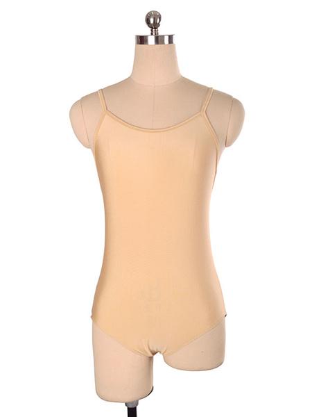 Milanoo Vestido de patinaje Poliester desnudo Trajes de baile