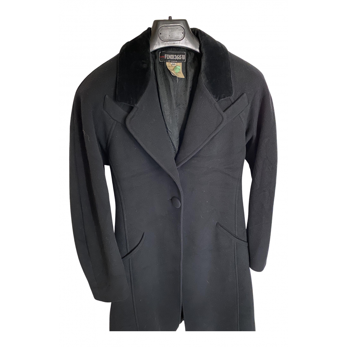 Fendi N Black Wool coat for Women 40 FR