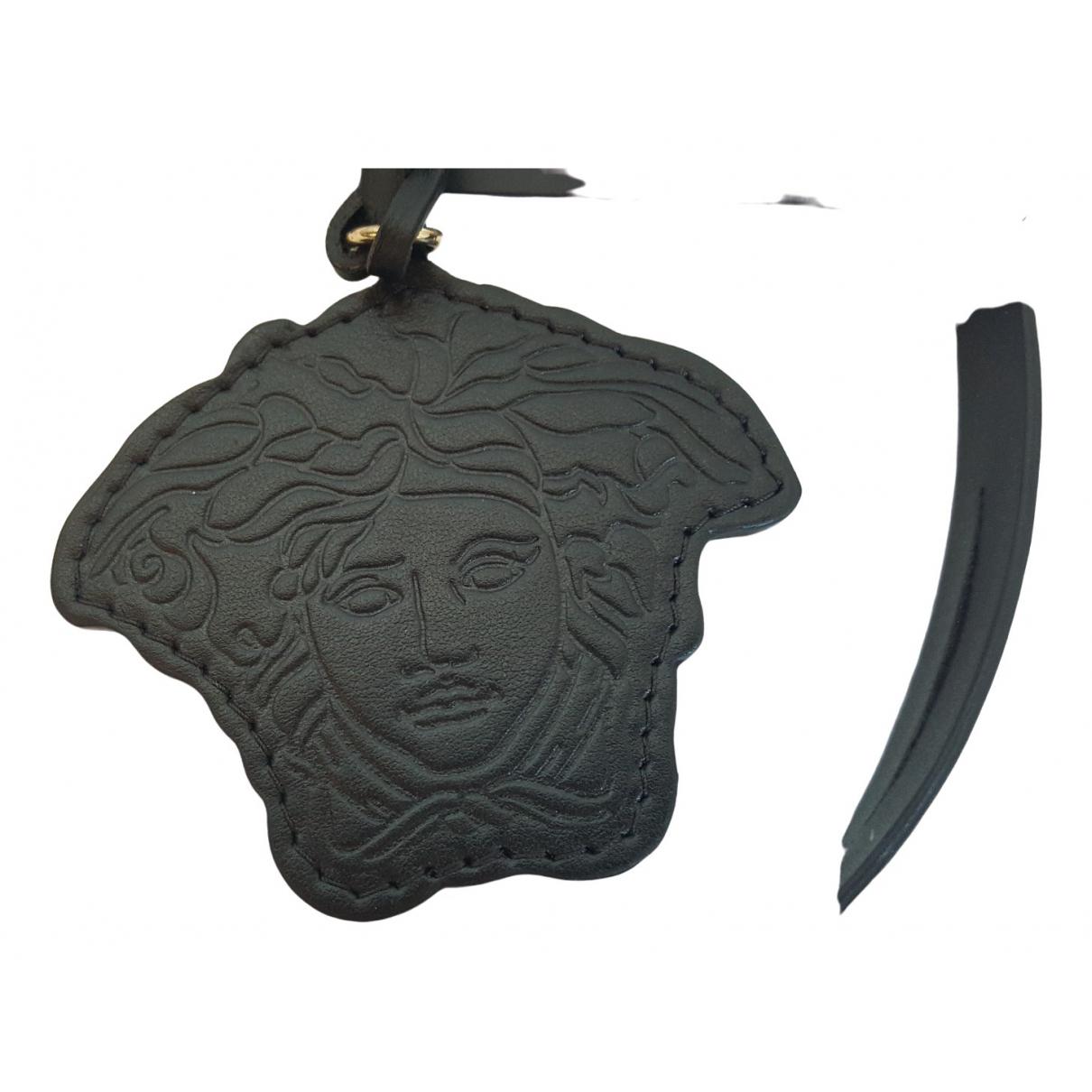 Versace \N Black Leather Small bag, wallet & cases for Men \N
