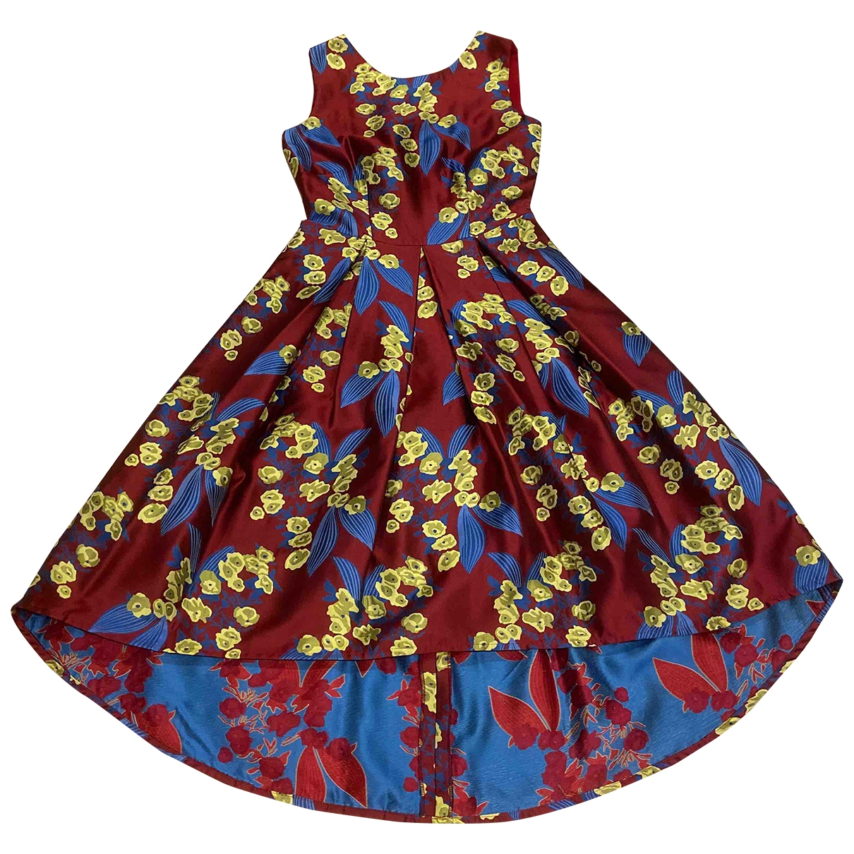 Non Signé / Unsigned \N Multicolour Silk dress for Women 6 UK