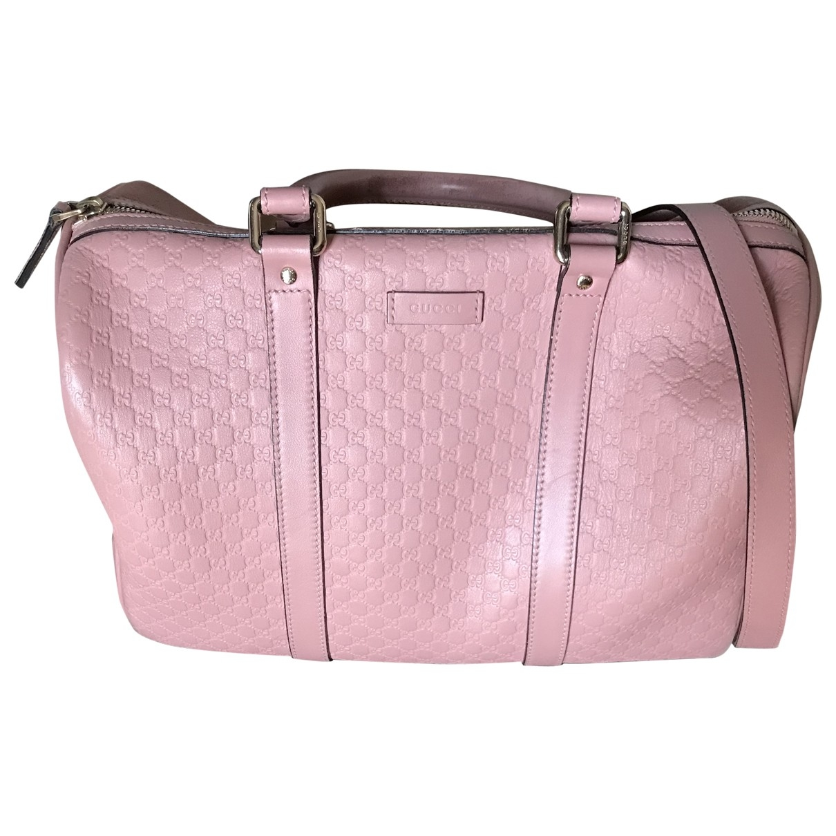 Gucci Boston Pink Leather handbag for Women \N