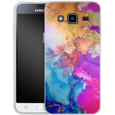 Samsung Galaxy J3 (2016) Silikon Handyhuelle - Cosmic Swirl III von Stella Lightheart