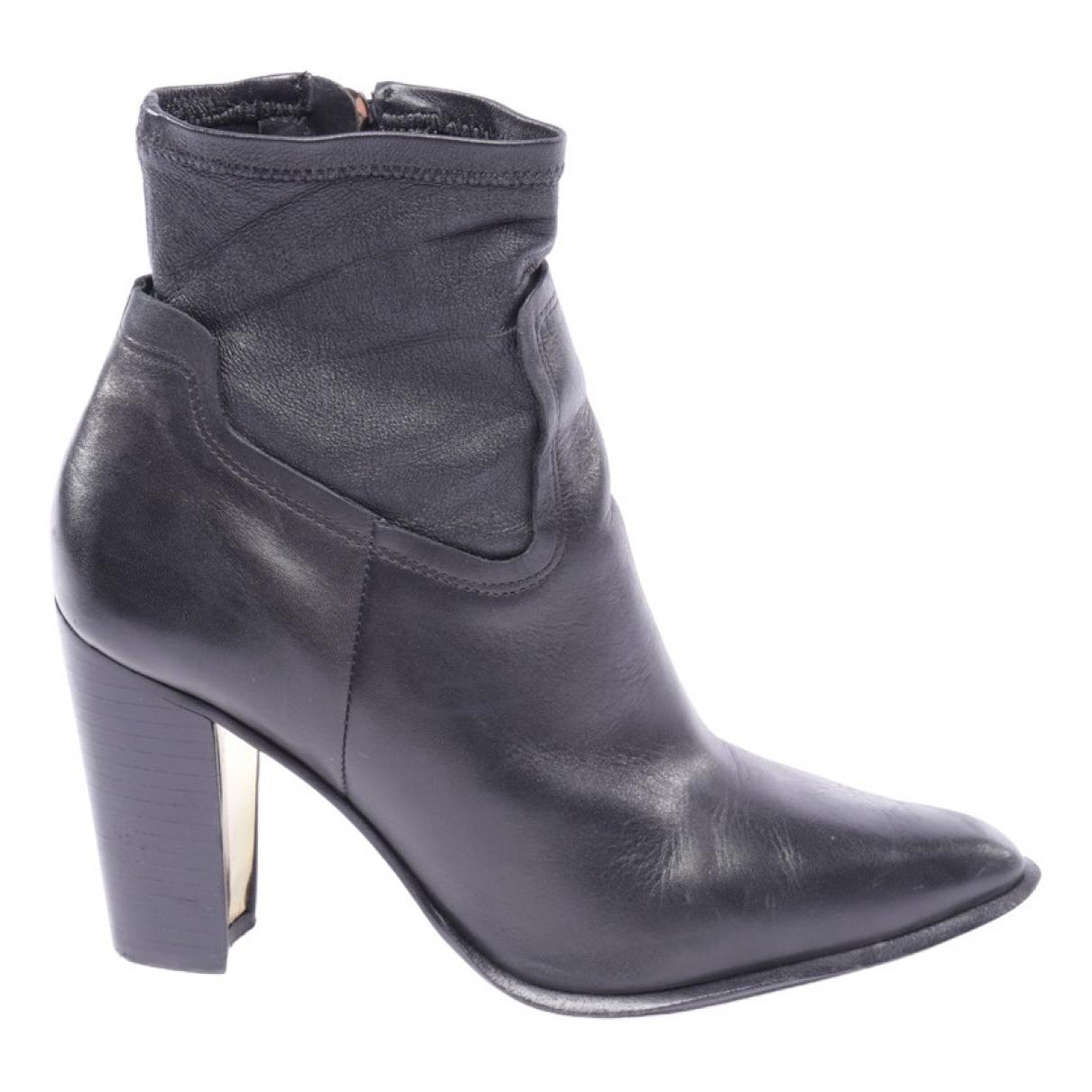 Rachel Zoe - Boots   pour femme en cuir - noir