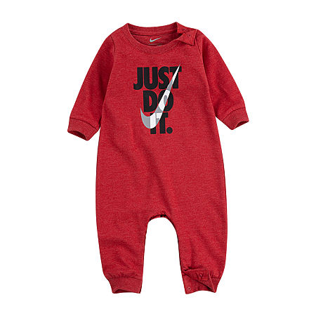Nike Baby Boys Long Sleeve Jumpsuit, 6 Months , Red