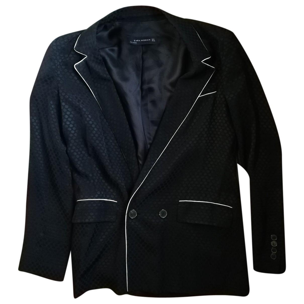 Chaqueta en Viscosa Negro Zara