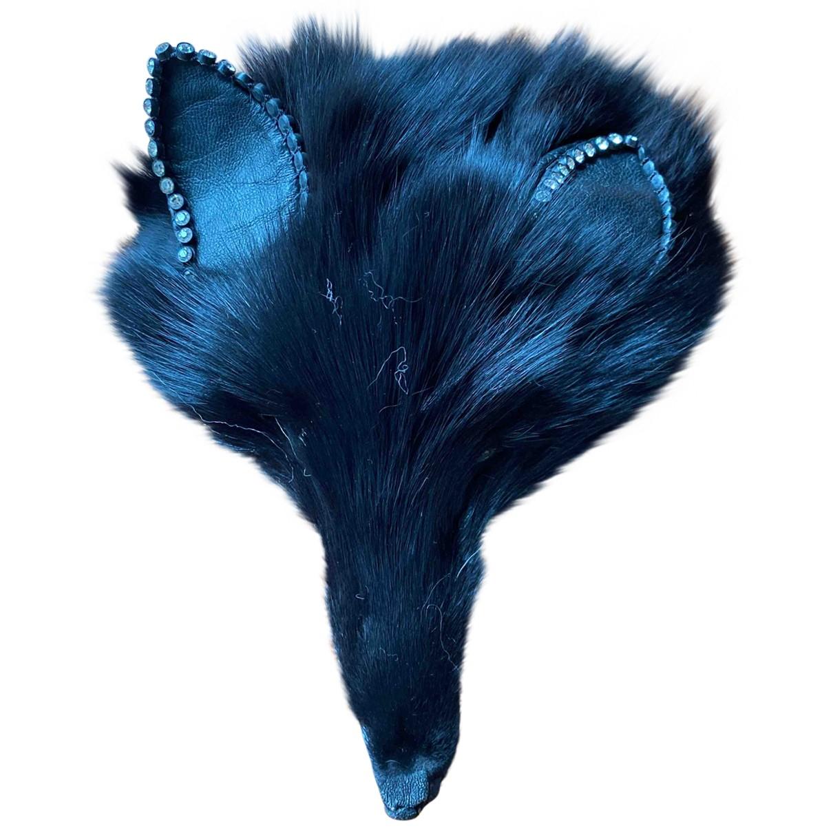 - Broche   pour femme en renard - noir