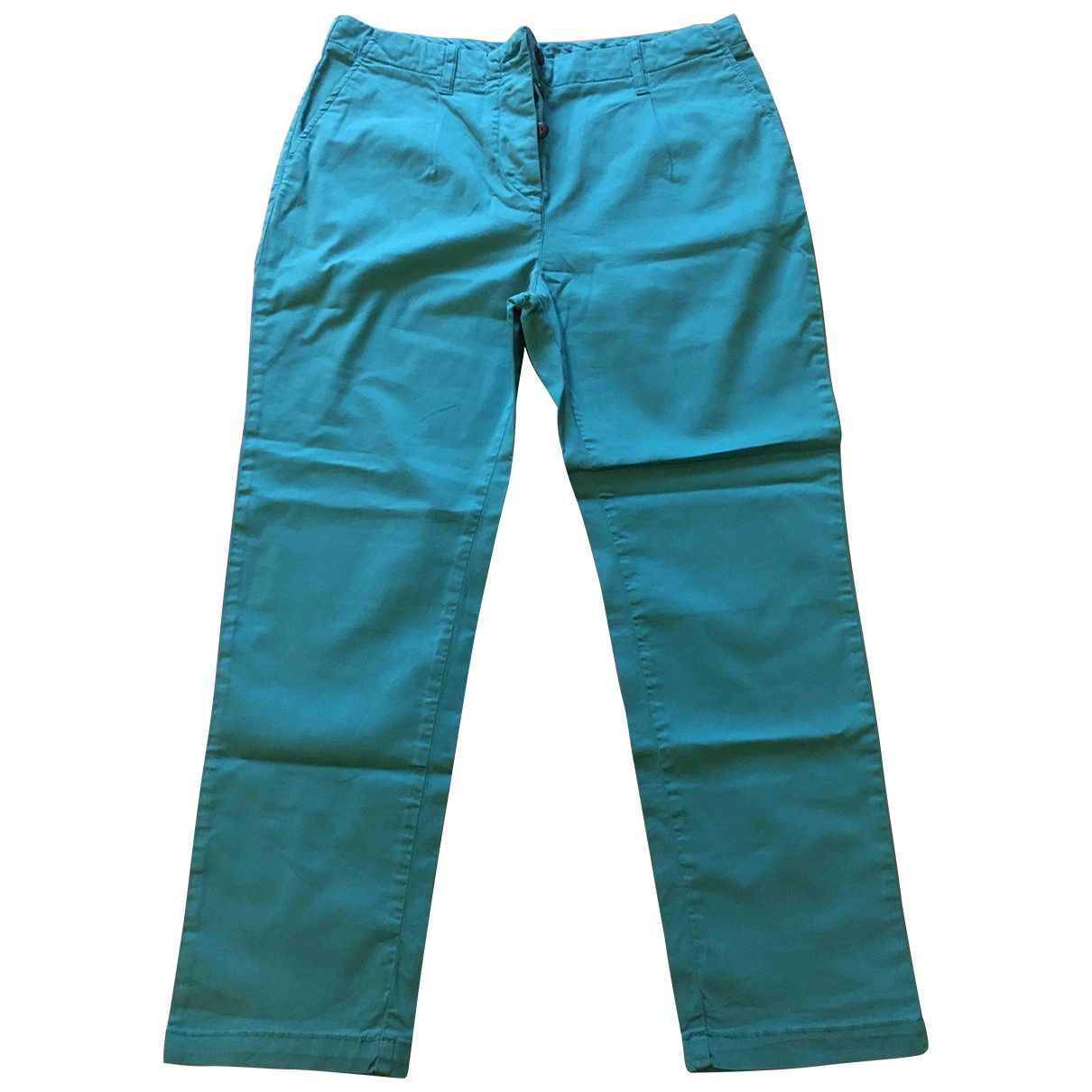 Jucca \N Turquoise Cotton Trousers for Women 40 IT