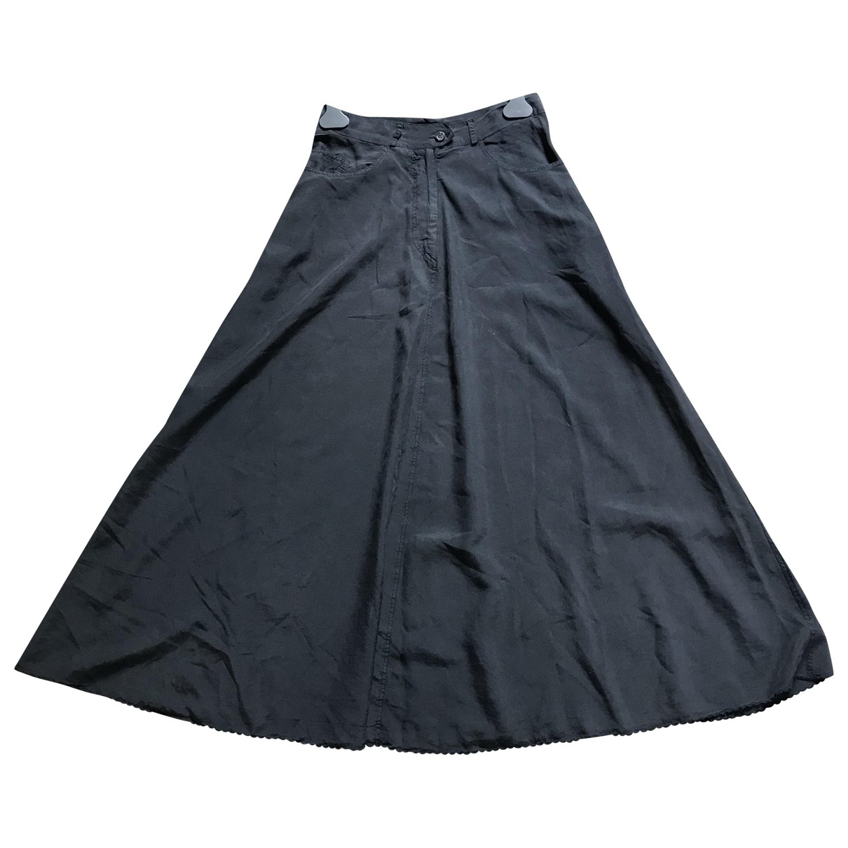 Aspesi - Jupe   pour femme en soie - bleu