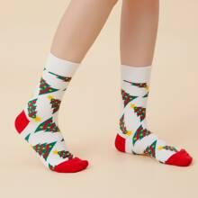 Tree Pattern Socks