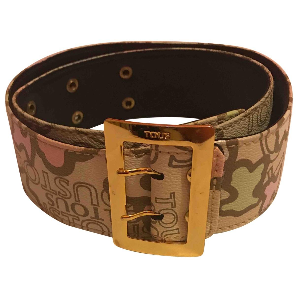 Atelier Tous \N Beige Leather belt for Women S International