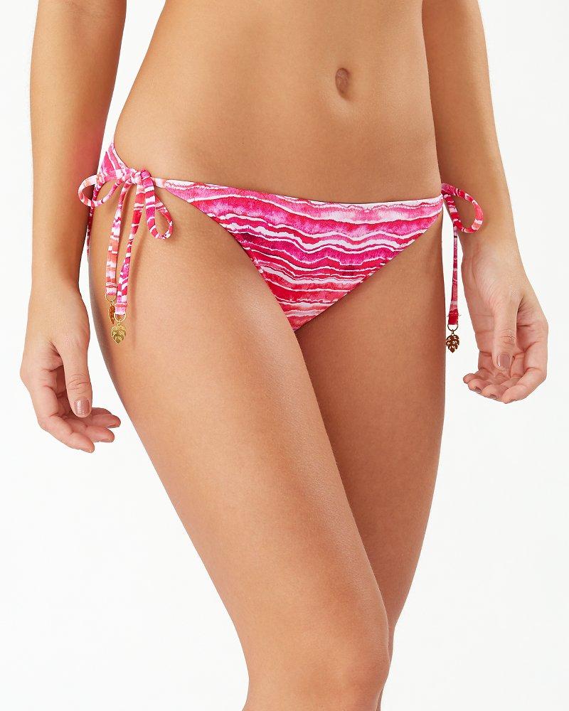 Rainbow Fronds Reversible String Bikini Bottoms