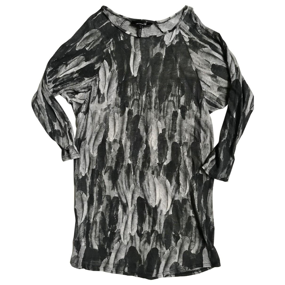 Isabel Marant \N Kleid in  Grau Leinen
