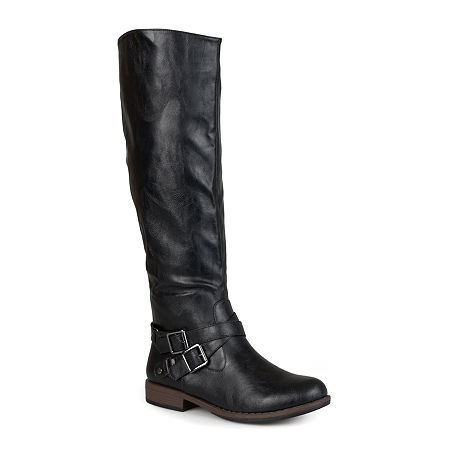 Journee Collection Womens April Riding Boots, 9 Medium, Black