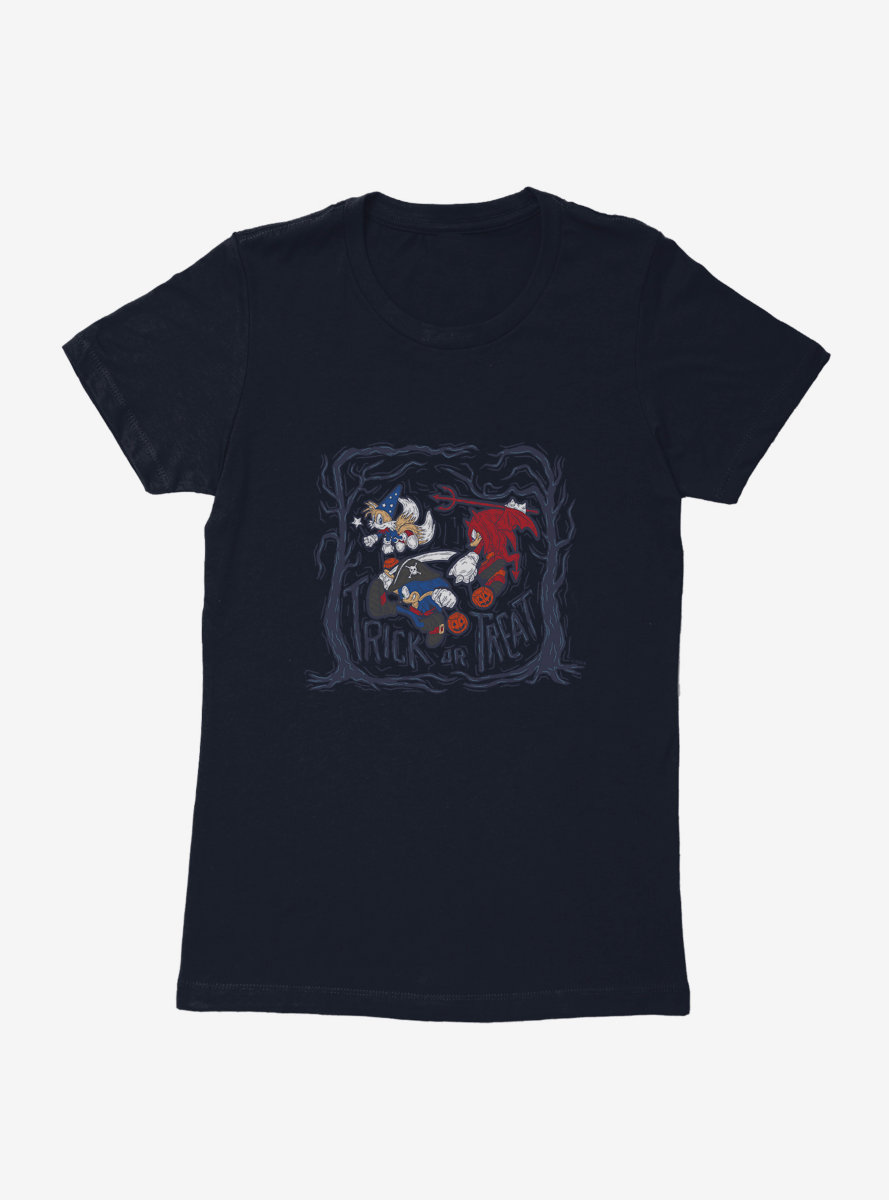 Sonic The Hedgehog Halloween Trick Or Treat Womens T-Shirt