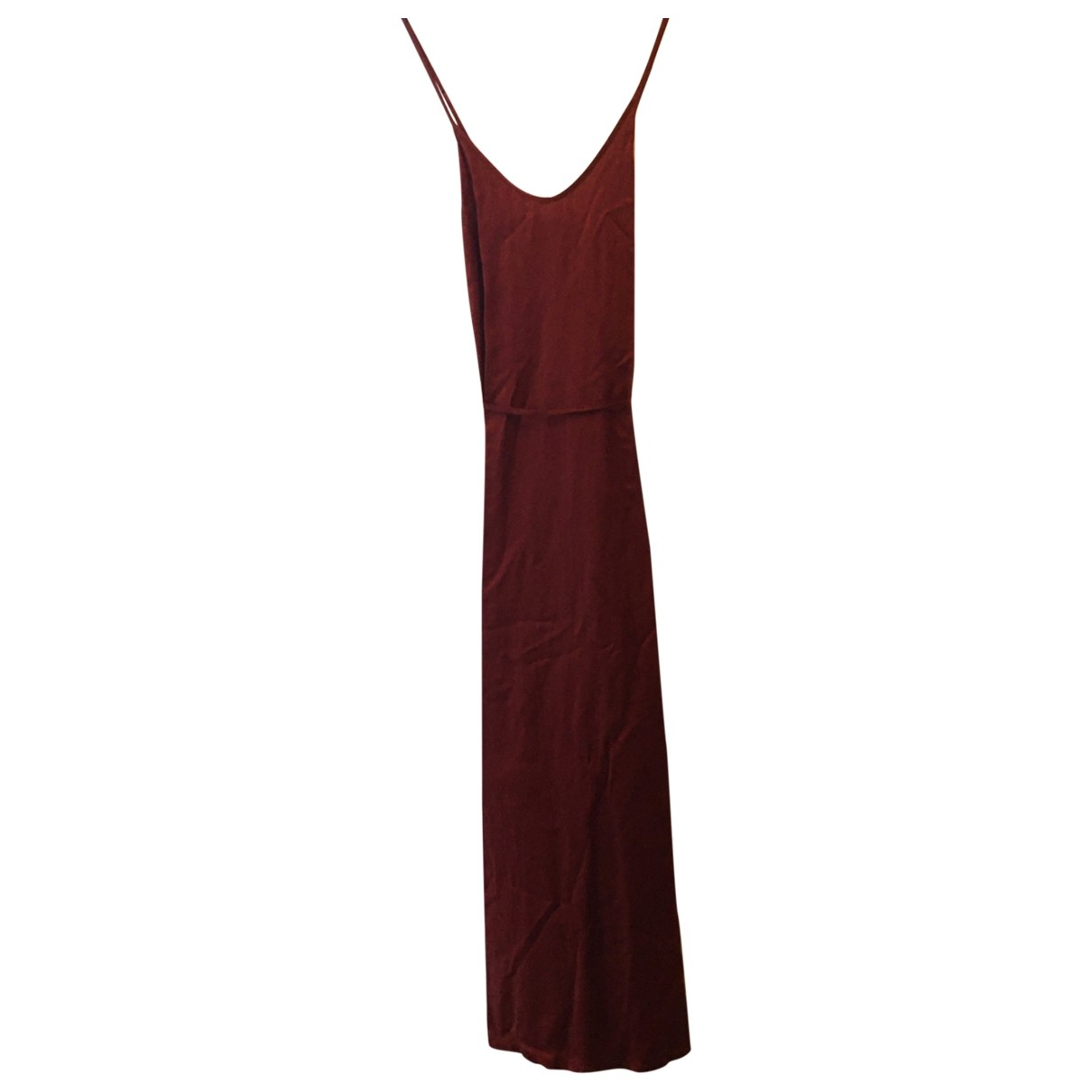 Raquel Allegra \N Kleid in  Rot Seide