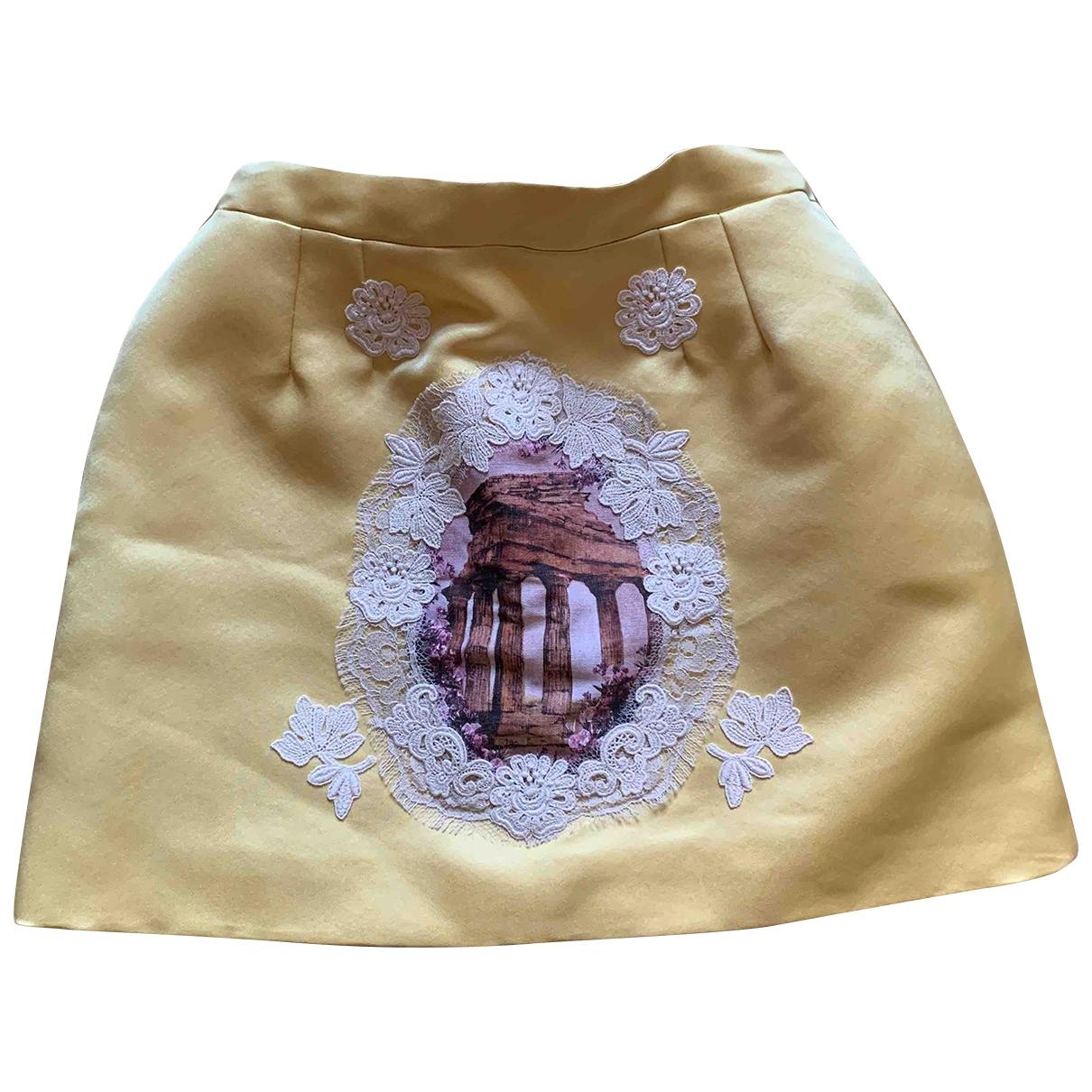 Dolce & Gabbana - Jupe   pour enfant en soie - jaune