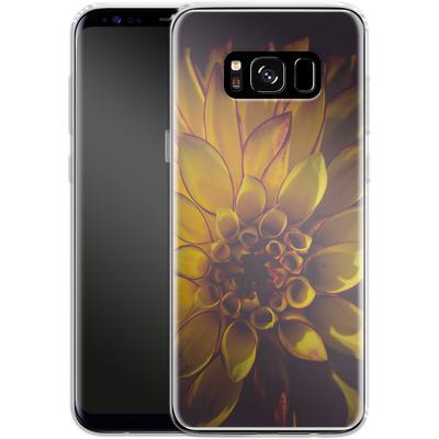 Samsung Galaxy S8 Silikon Handyhuelle - Yellow Dahlia von Joy StClaire