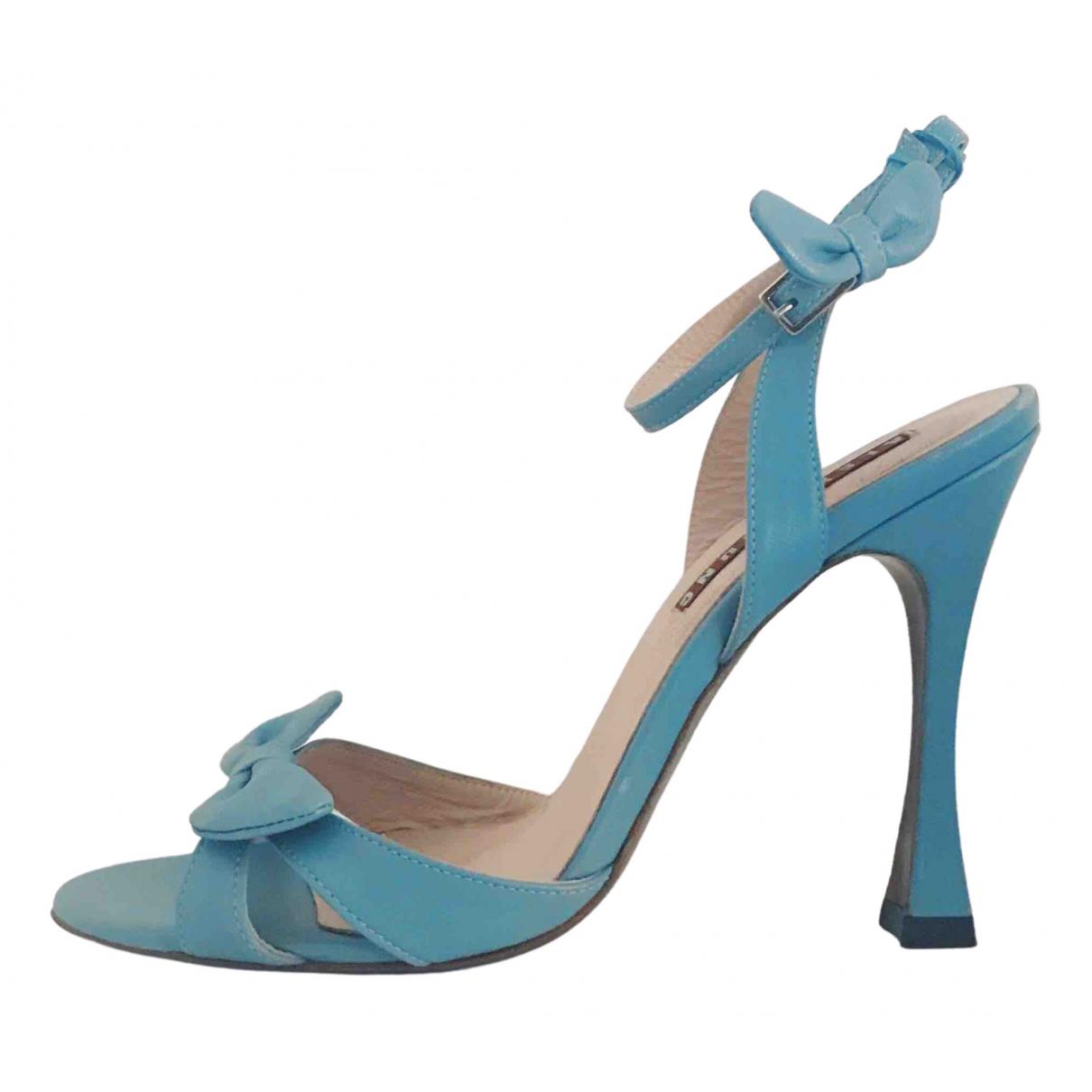 Alexa Chung - Sandales   pour femme en a paillettes - bleu