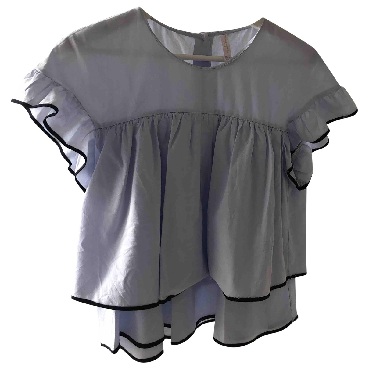 Zara - Top   pour femme en coton - turquoise