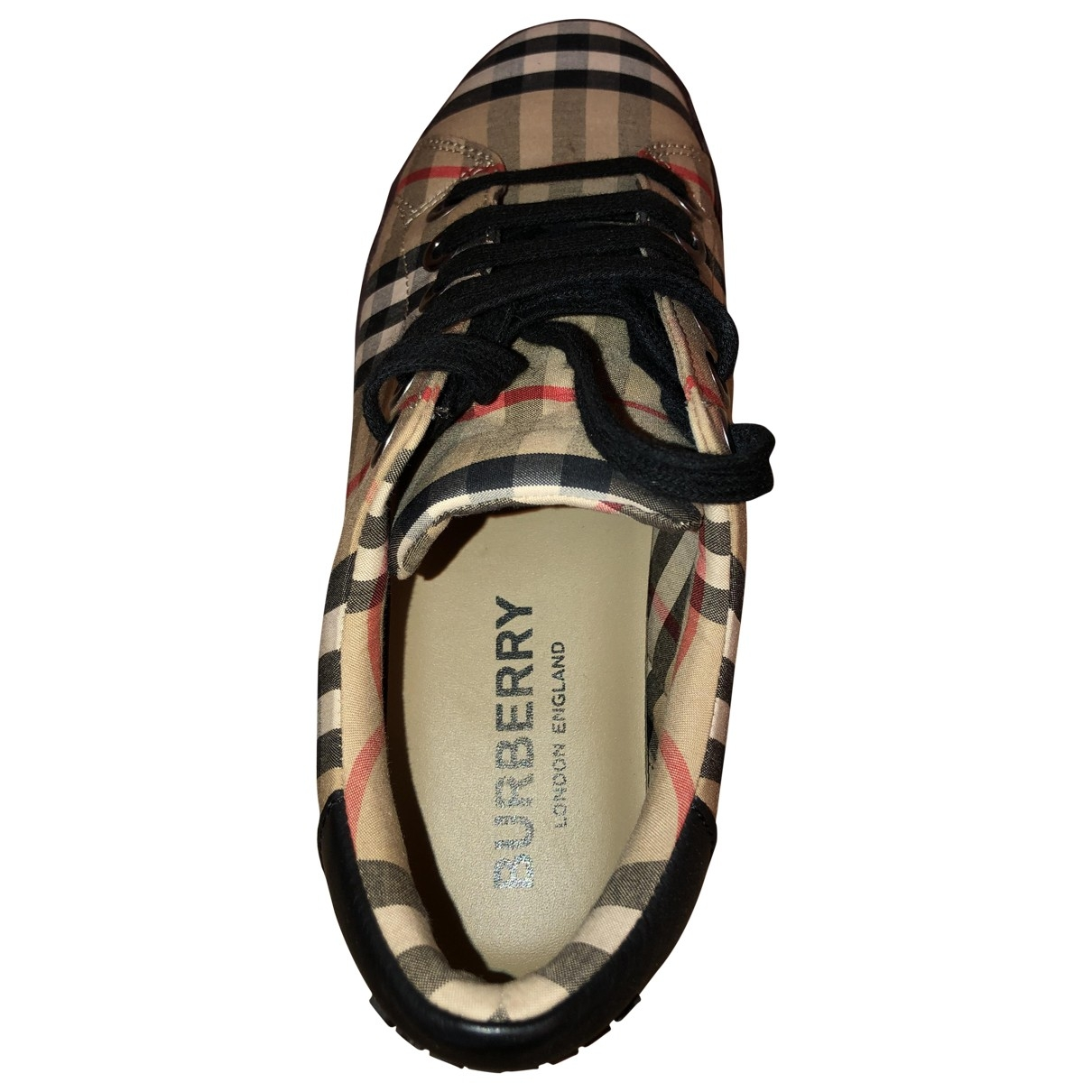 Burberry \N Sneakers in  Braun Leinen