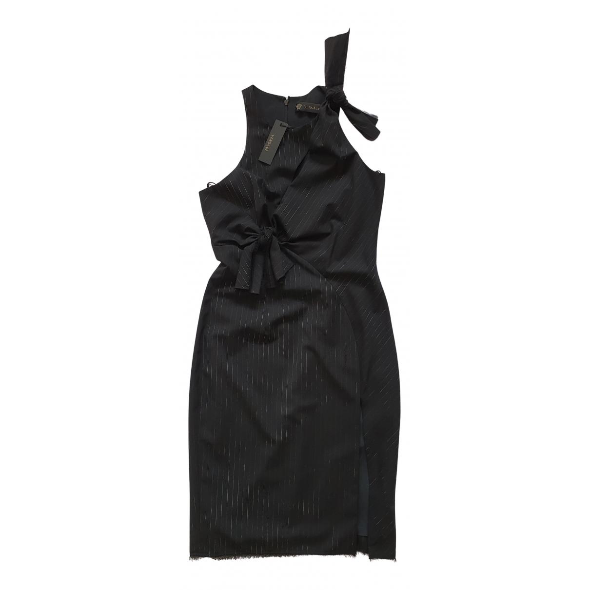 Versace - Robe   pour femme en laine - noir