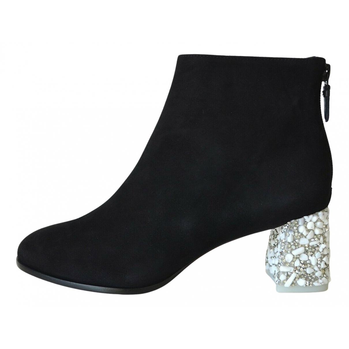 Sophia Webster N Black Suede Ankle boots for Women 38 EU