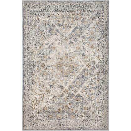 Durham DUR-1016 9' x 12' Rectangle Traditional Rug in Medium Gray  Taupe  Camel  Charcoal